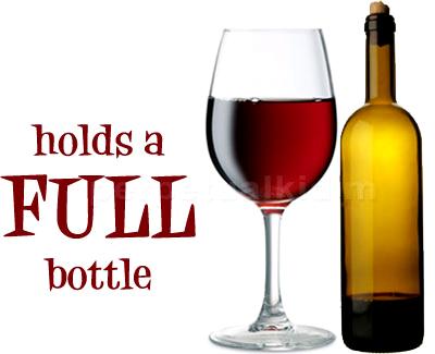 Holds a full bottle
