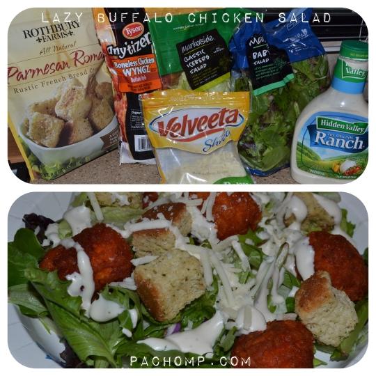 Lazy Buffalo Chicken Salad